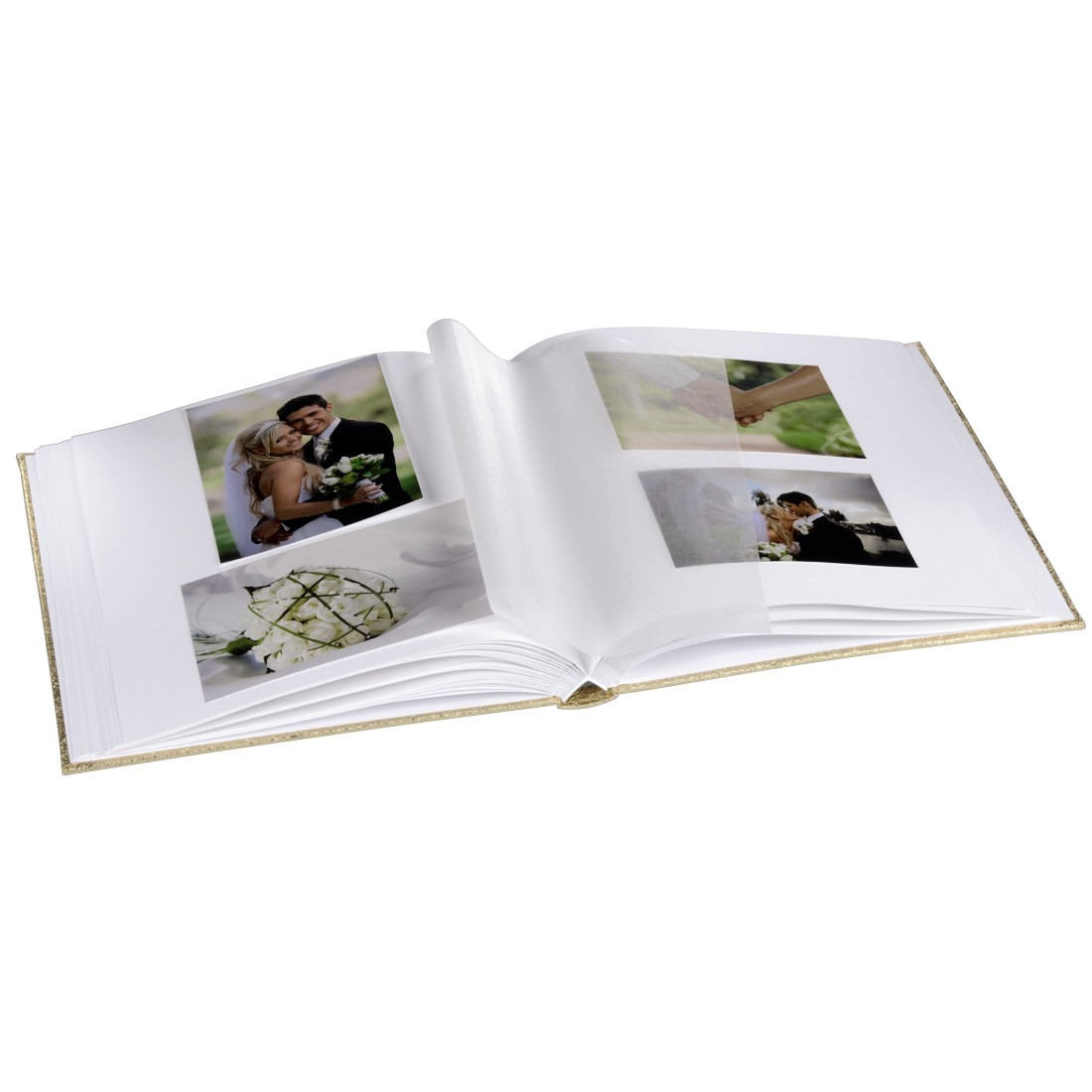 awx High-Res Appliance - Hama, Album photo livre Caracas, 29x32 cm, 50 white pages, doré