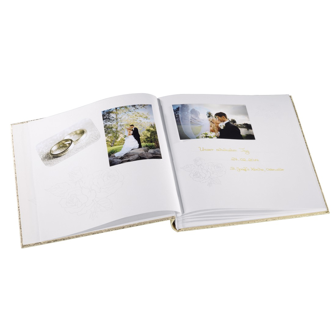 awx2 High-Res Appliance 2 - Hama, Album photo livre Caracas, 29x32 cm, 50 white pages, doré