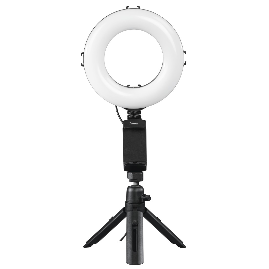 "abx High-Res Image - Hama, Lampe anneau Ringlight LED ""SpotLight Work Area 67"", smartphone et tablette"