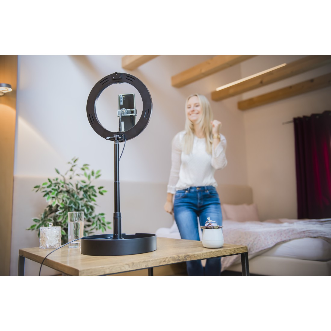 "awx5 High-Res Appliance 5 - Hama, Lampe anneau Ringlight LED ""SpotLight FoldUp 102"", pr smartph., repl.,10,2"""