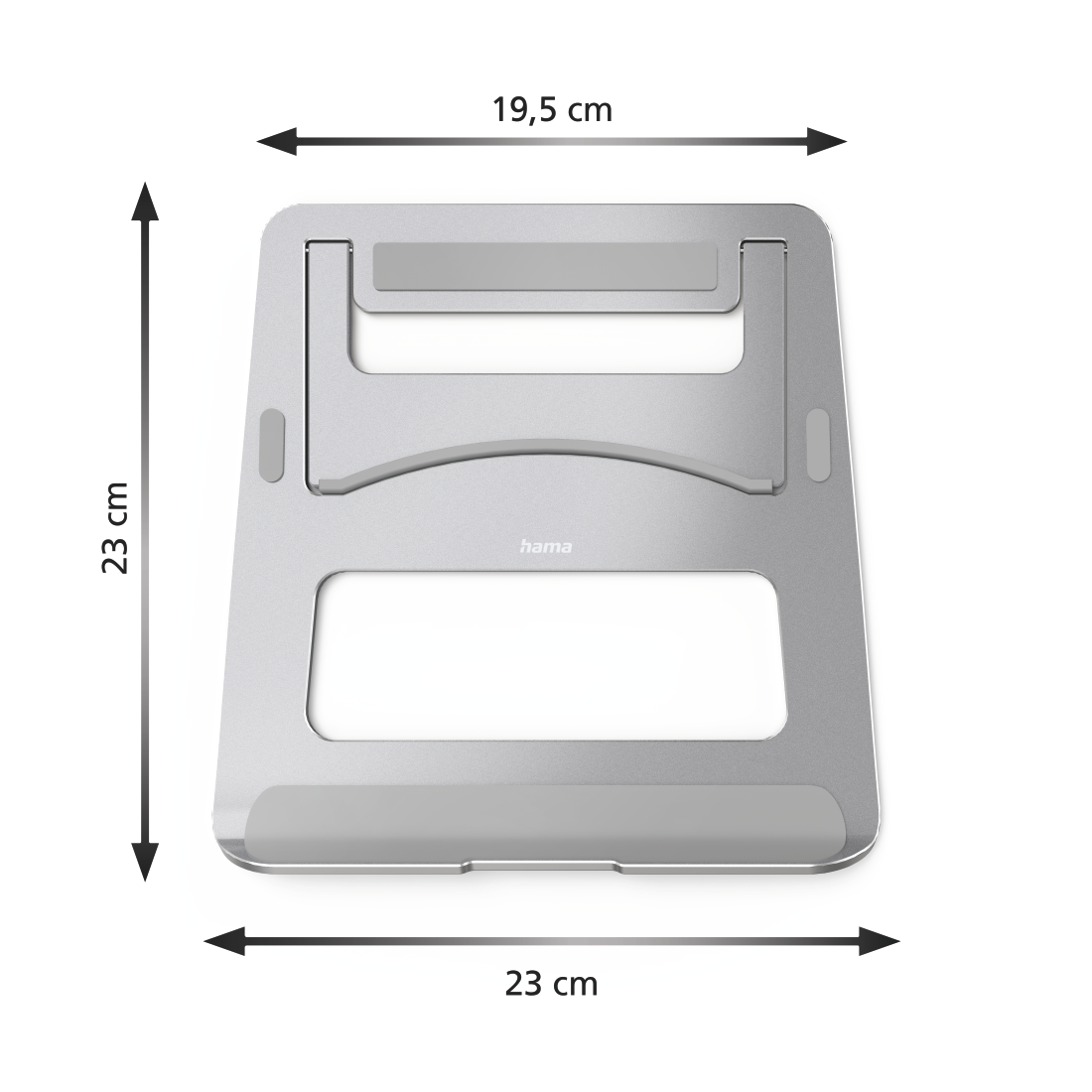 abx3 High-Res Image 3 - Hama, Support pour ordinateur portable Aluminium, argent