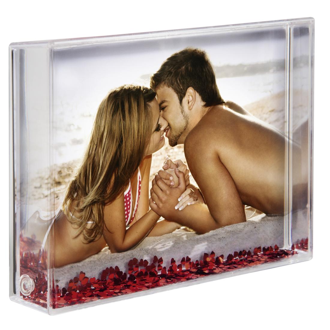Hama 10 x 15 cm Amore acrylique cadre photo transparent