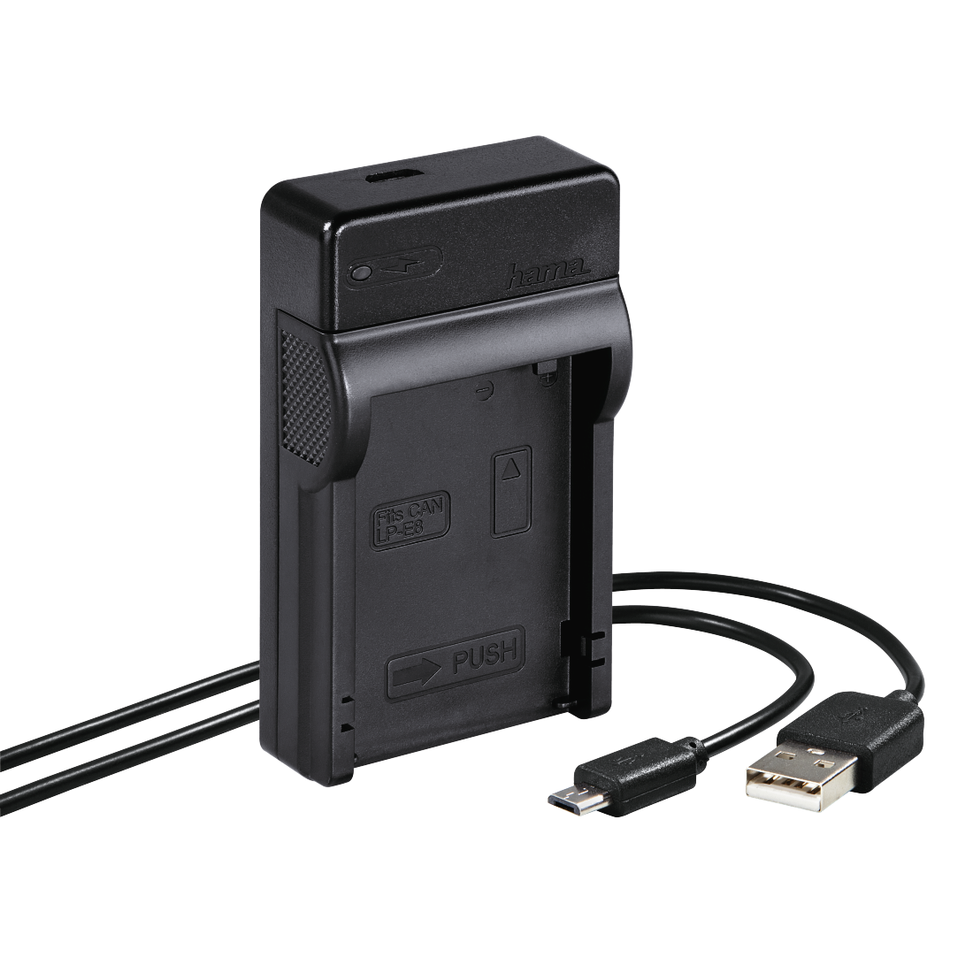 "abx High-Res Image - Hama, Chargeur USB ""Travel"" pour Canon LP-E8"