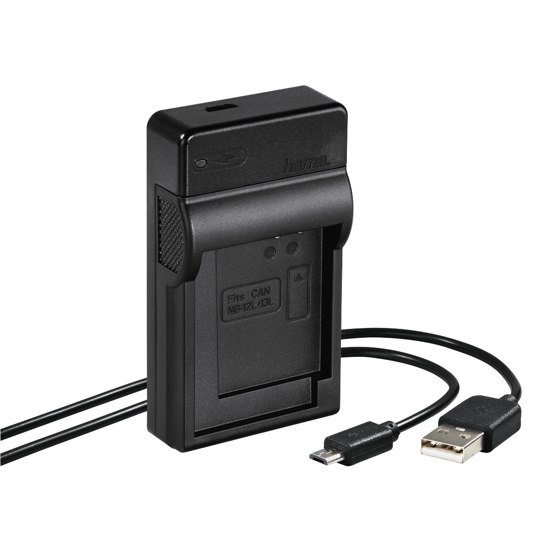 "abx High-Res Image - Hama, Chargeur USB ""Travel"" pour Canon NB-12L/13L"