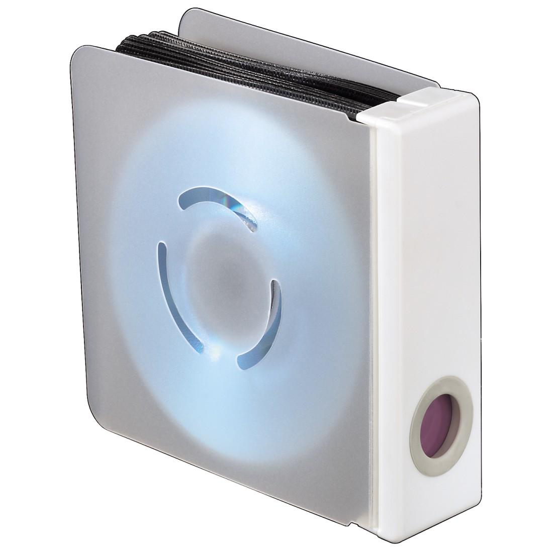 00096104 hama bo te de rangement pour 96 cd dvd blu ray transparent blanc. Black Bedroom Furniture Sets. Home Design Ideas