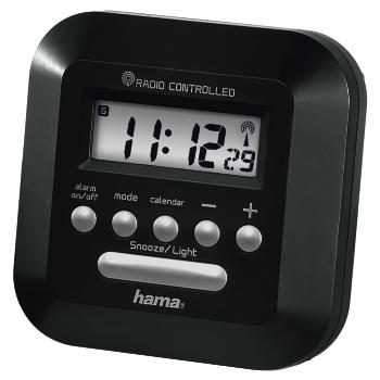 DCF RC540 Hama R/éveil radio-pilot/é avec fonction de veilleuse nocturne,Noir