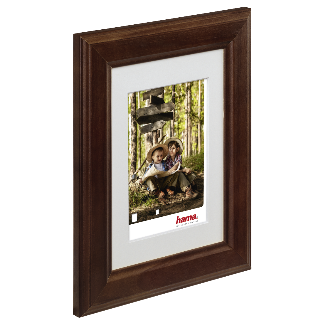 00126274 hama cadre photo en bois iowa noisette 20 x 30 cm. Black Bedroom Furniture Sets. Home Design Ideas
