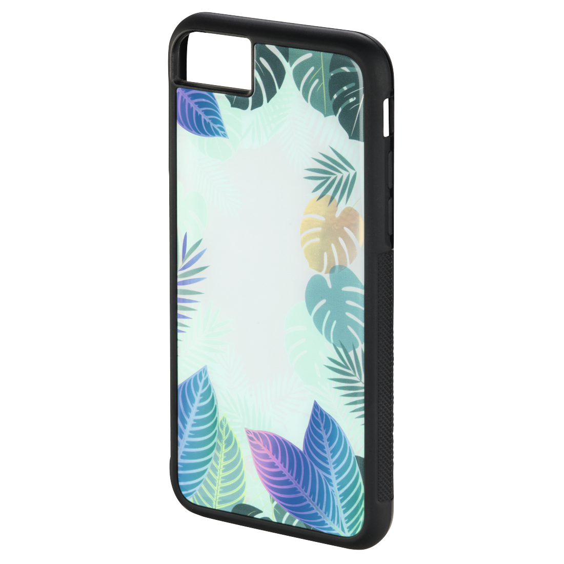 "abx5 High-Res Image 5 - Hama, Coque + boucle de doigt ""Tropical"" Apple iPhone 6/6s/7/8, vert"