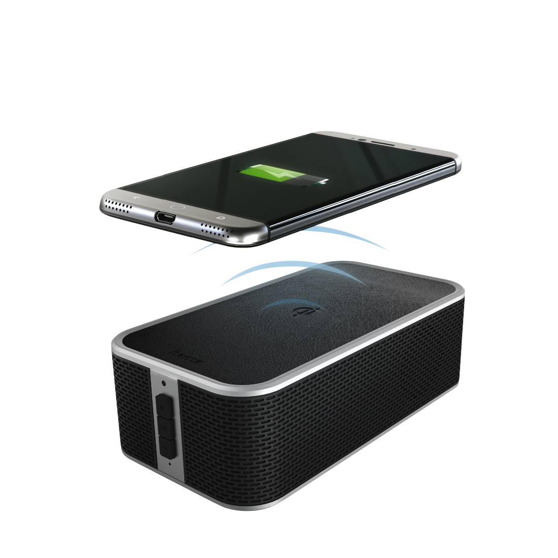 abx High-Res Image - Hama, Enceinte Bluetooth + chargeur Qi Power Brick