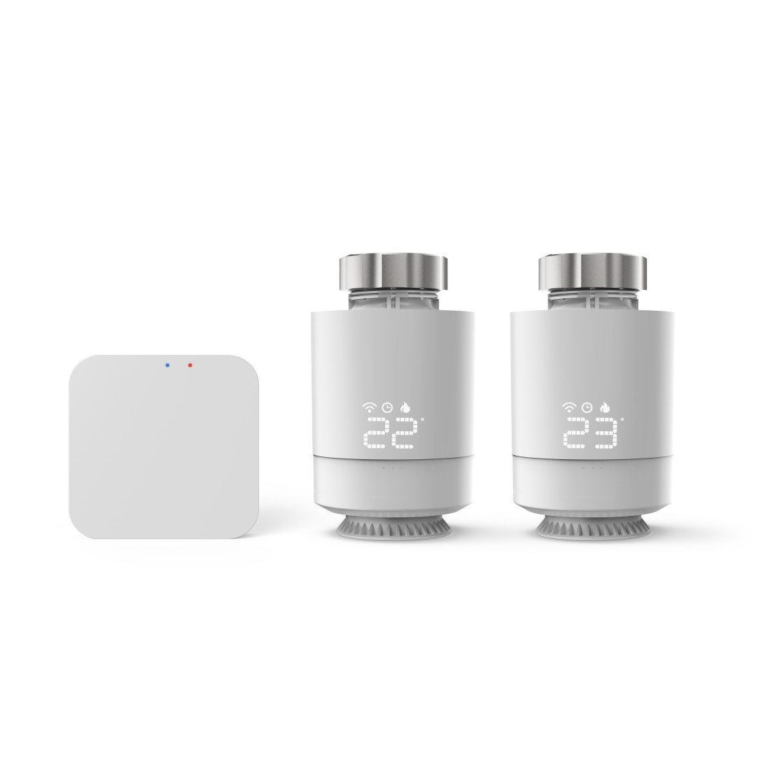 abx2 High-Res Image 2 - Hama, Commande de chauffage WiFi, 2x thermostats intelligents + base