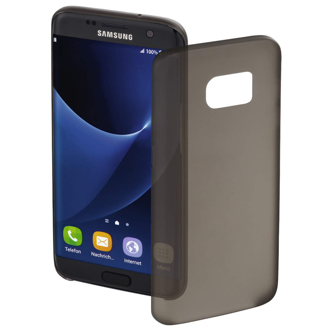 "abx High-Res Image - Hama, Coque de protection ""Ultra Slim"" pour Samsung Galaxy S7 edge, noire"