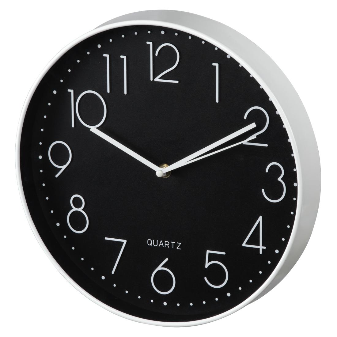 00176903 hama horloge murale elegance 30 cm silencieuse blanche noire. Black Bedroom Furniture Sets. Home Design Ideas