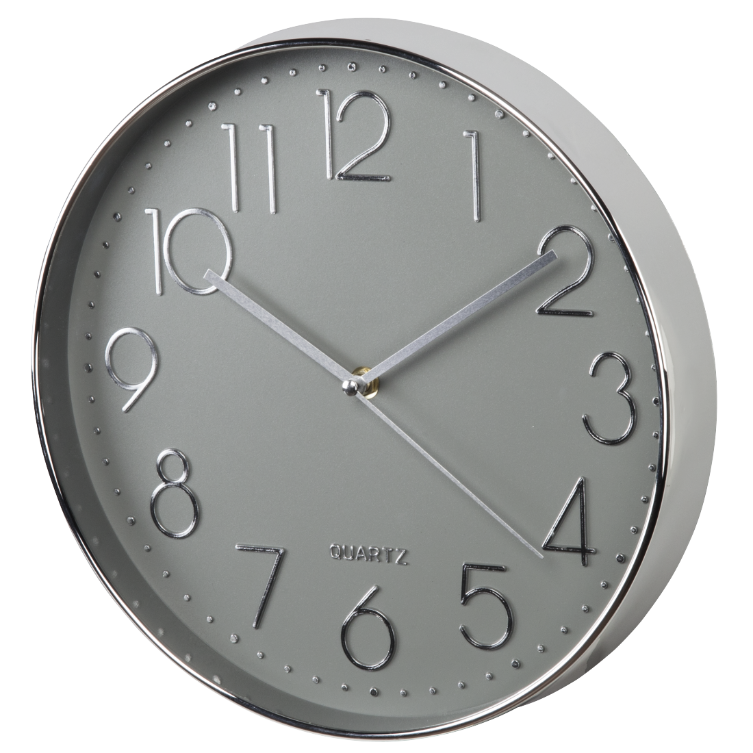 00176904 hama horloge murale elegance 30 cm silencieuse argent e grise for Horloge grise