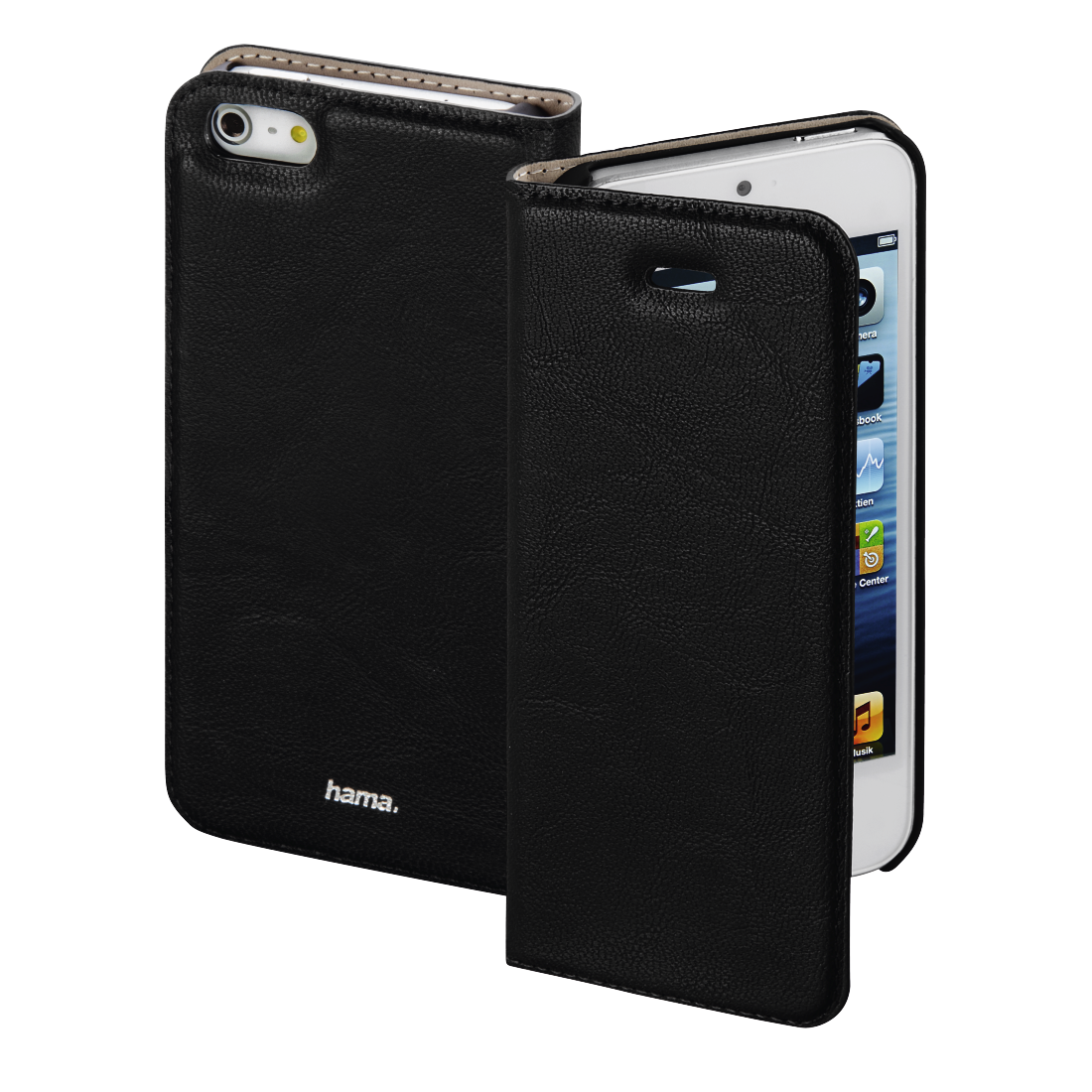 "abx High-Res Image - Hama, Étui portefeuille ""Guard Case"" pour Apple iPhone 5/5s/SE, noir"