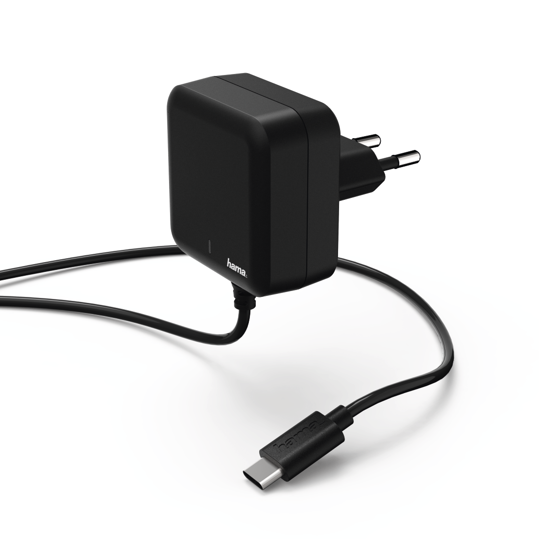 abx High-Res Image - Hama, Chargeur, USB Type-C, Power Delivery (PD), 3 A, noir
