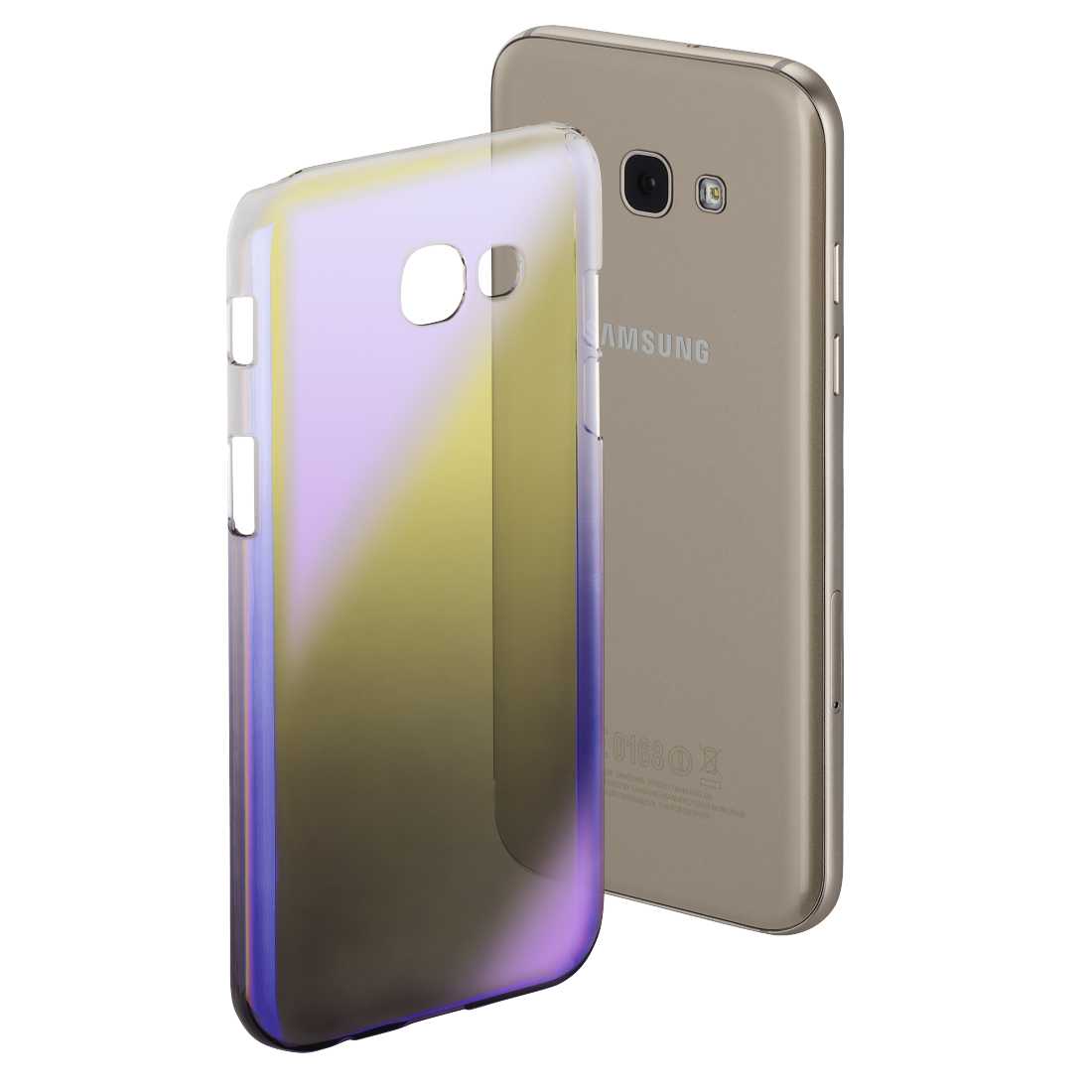 "abx High-Res Image - Hama, Coque ""Mirror"" pour Samsung GalaxyA5 (2017), jaune/lilas"