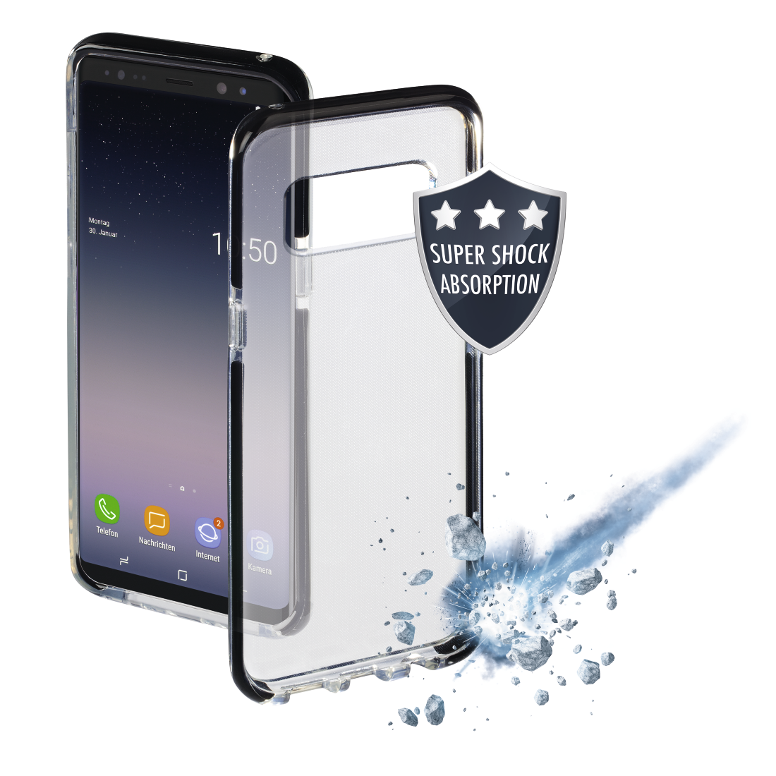 "abx High-Res Image - Hama, Coque de protection ""Protector"" pour Samsung Galaxy Note 8, noire"