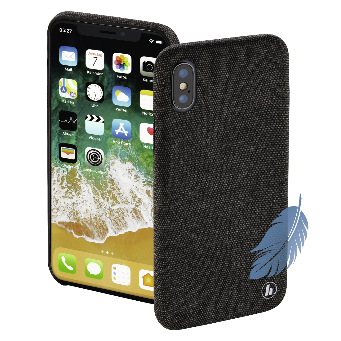 "abx High-Res Image - Hama, Coque de protection ""Cozy"" pour Apple iPhone X, noir"