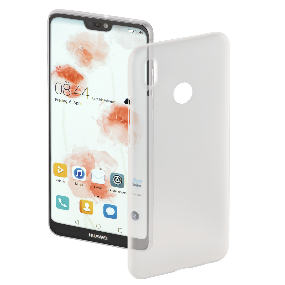 "abx High-Res Image - Hama, Coque de protection ""Ultra Slim"" pour Huawei P20 Lite, blanche"