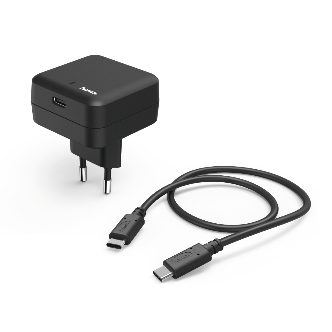 abx High-Res Image - Hama, Kit charge secteur, port USB T.-C, Power Delivery (PD), 3A, noir