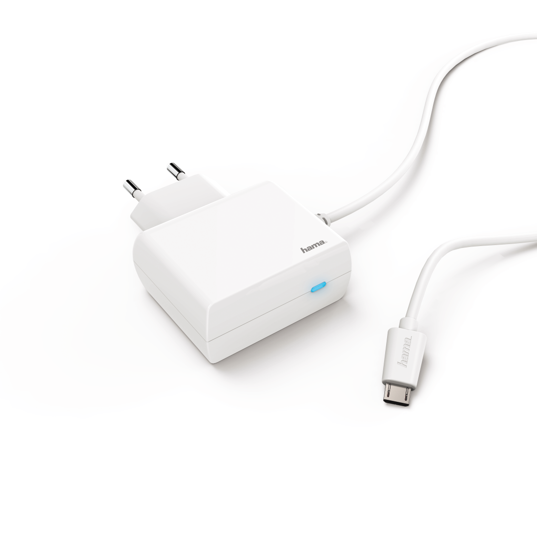 abx2 High-Res Image 2 - Hama, Chargeur micro-USB, 2,4 A, blanc