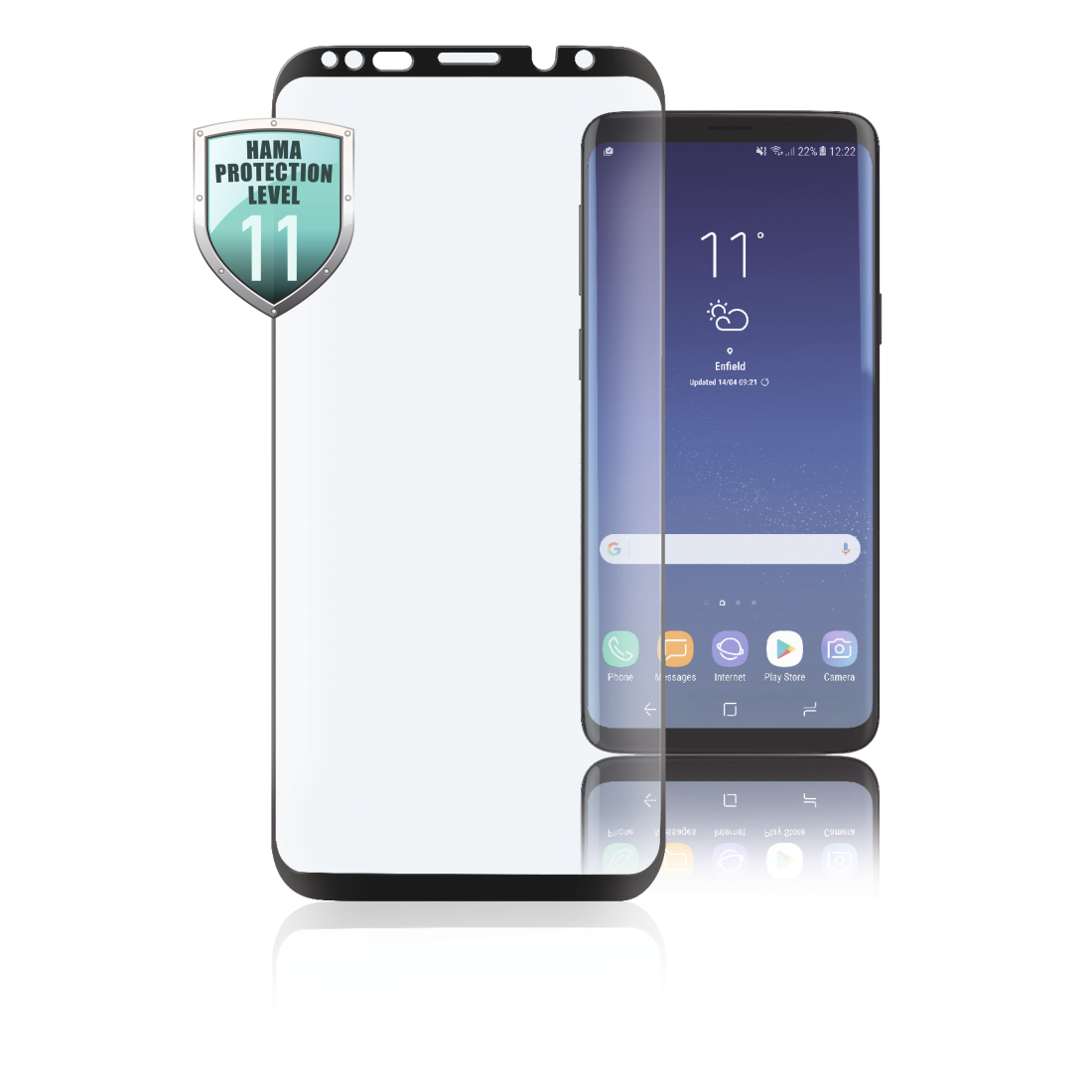 abx High-Res Image - Hama, Verre de protection Full-Screen 3D pour Samsung Galaxy S9, noir