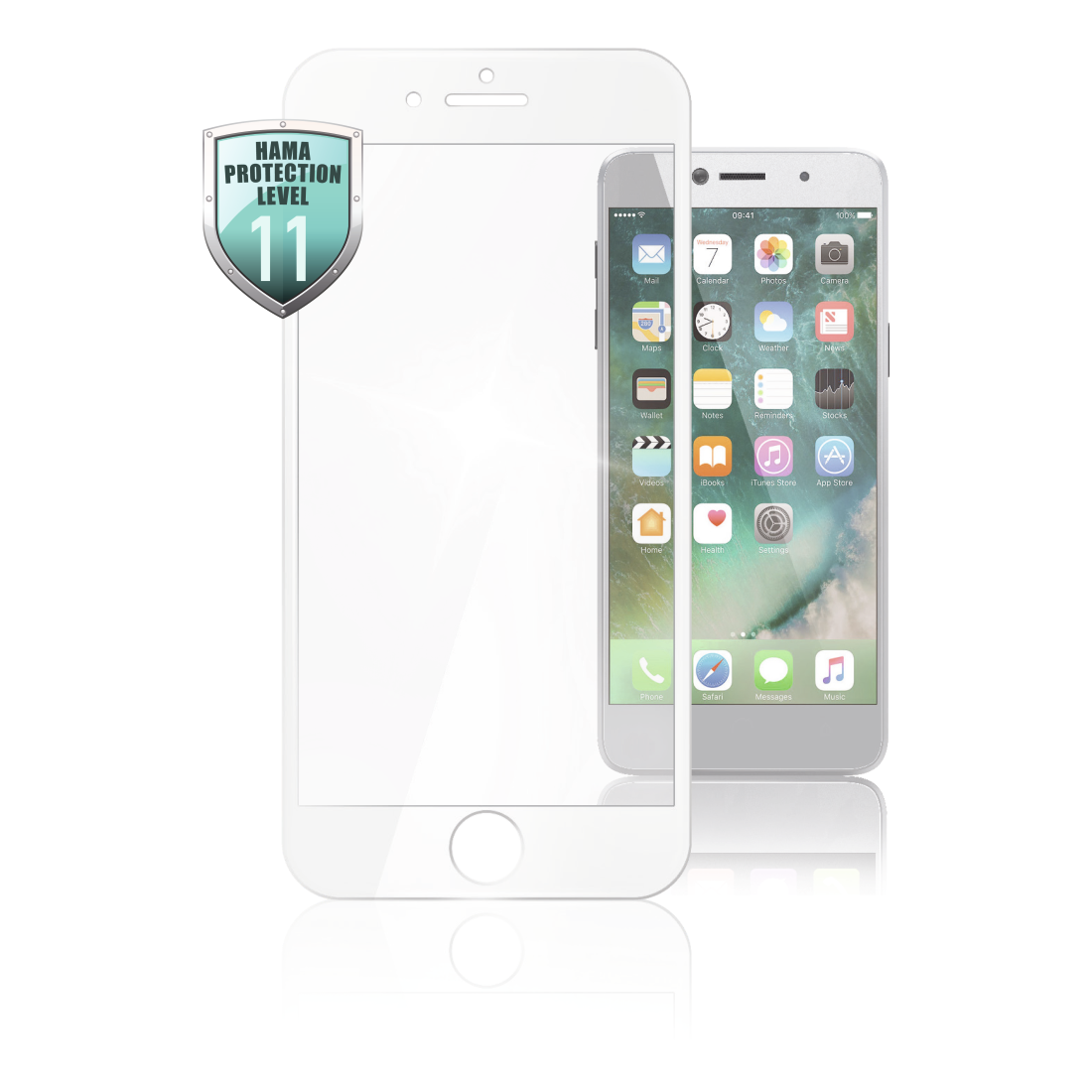 abx High-Res Image - Hama, Verre de protection Full-Screen 3D p. Apple iPhone 6/6s/7/8, blanc