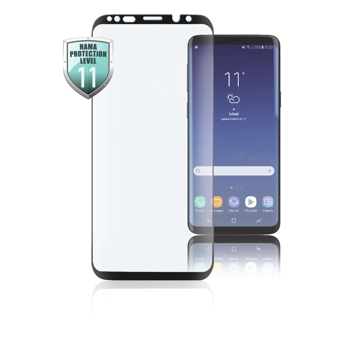 abx High-Res Image - Hama, Verre de protection Full-Screen 3D pour Samsung Galaxy Note 9, noir