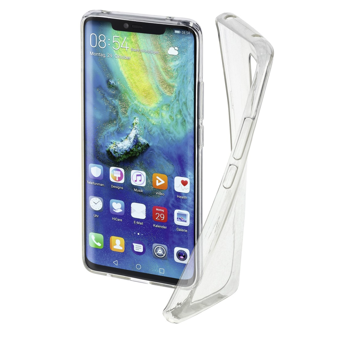 "abx High-Res Image - Hama, Coque de protection ""Crystal Clear"" pour Huawei Mate 20 Pro, transpar."