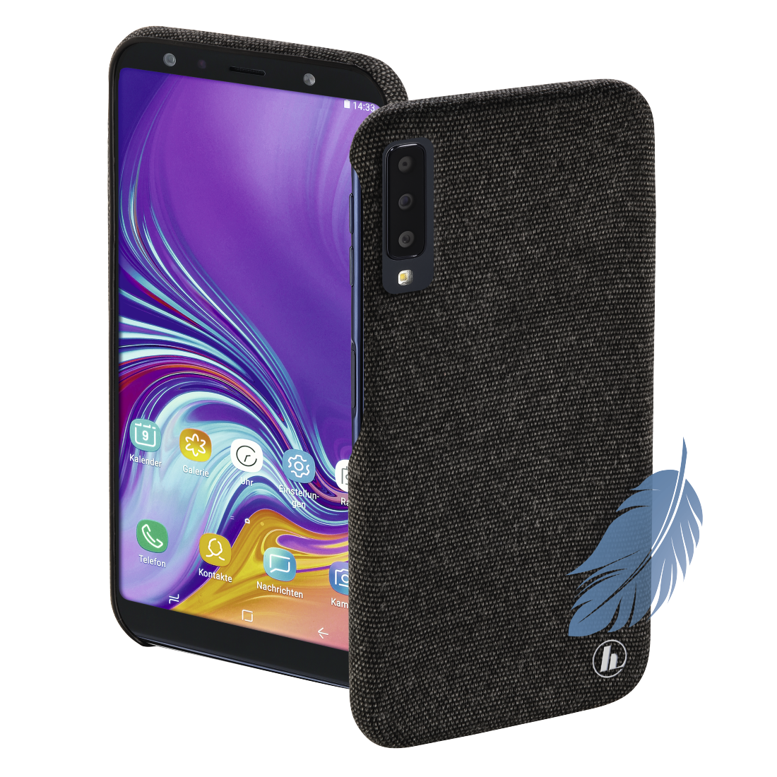 "abx High-Res Image - Hama, Coque de protection ""Cozy"" pr Samsung Galaxy A7 (2018), noire"