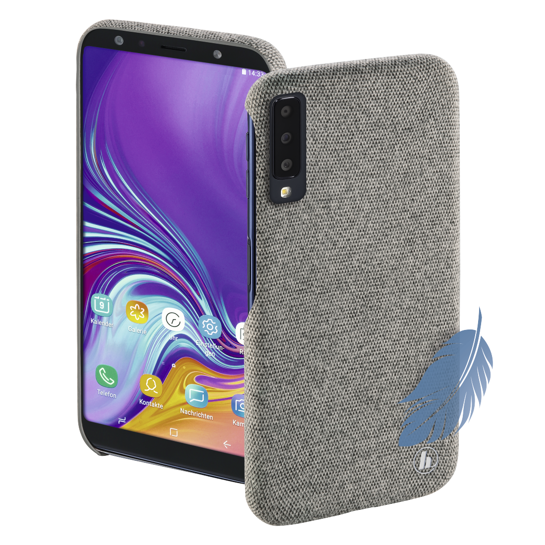 "abx High-Res Image - Hama, Coque de protection ""Cozy"" pr Samsung Galaxy A7 (2018), gris clair"