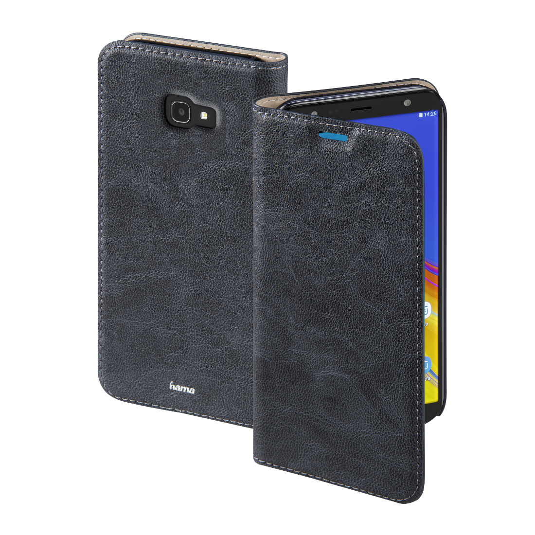 "abx High-Res Image - Hama, Étui portefeuille ""Guard Case"" pour Samsung Galaxy J4+, bleu"