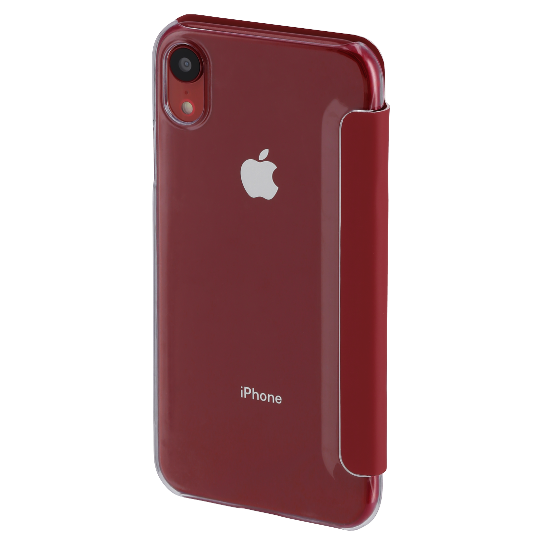 "abx2 High-Res Image 2 - Hama, Étui portefeuille ""Clear"" pour Apple iPhone XR, rouge"