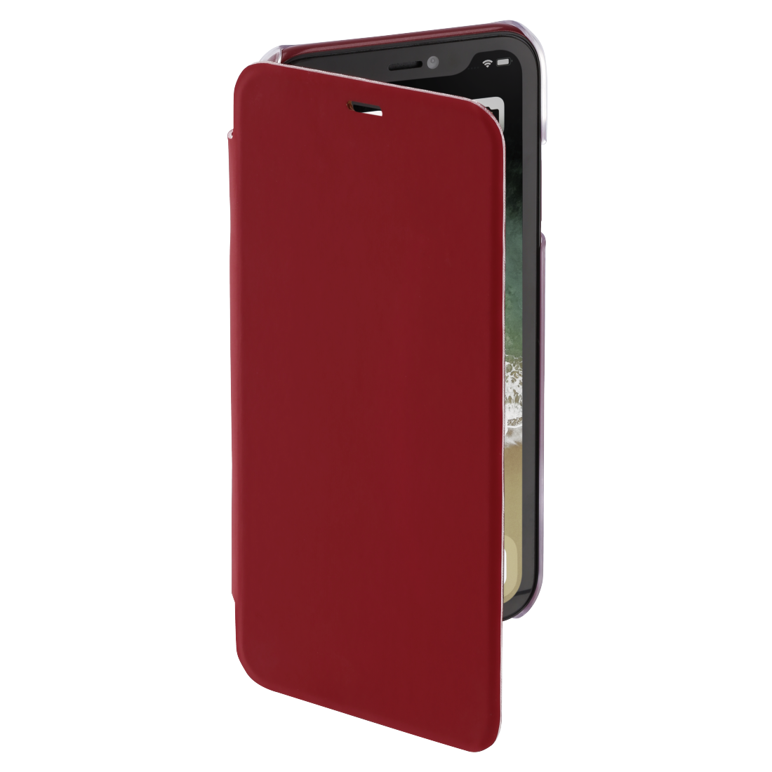 "abx3 High-Res Image 3 - Hama, Étui portefeuille ""Clear"" pour Apple iPhone XR, rouge"