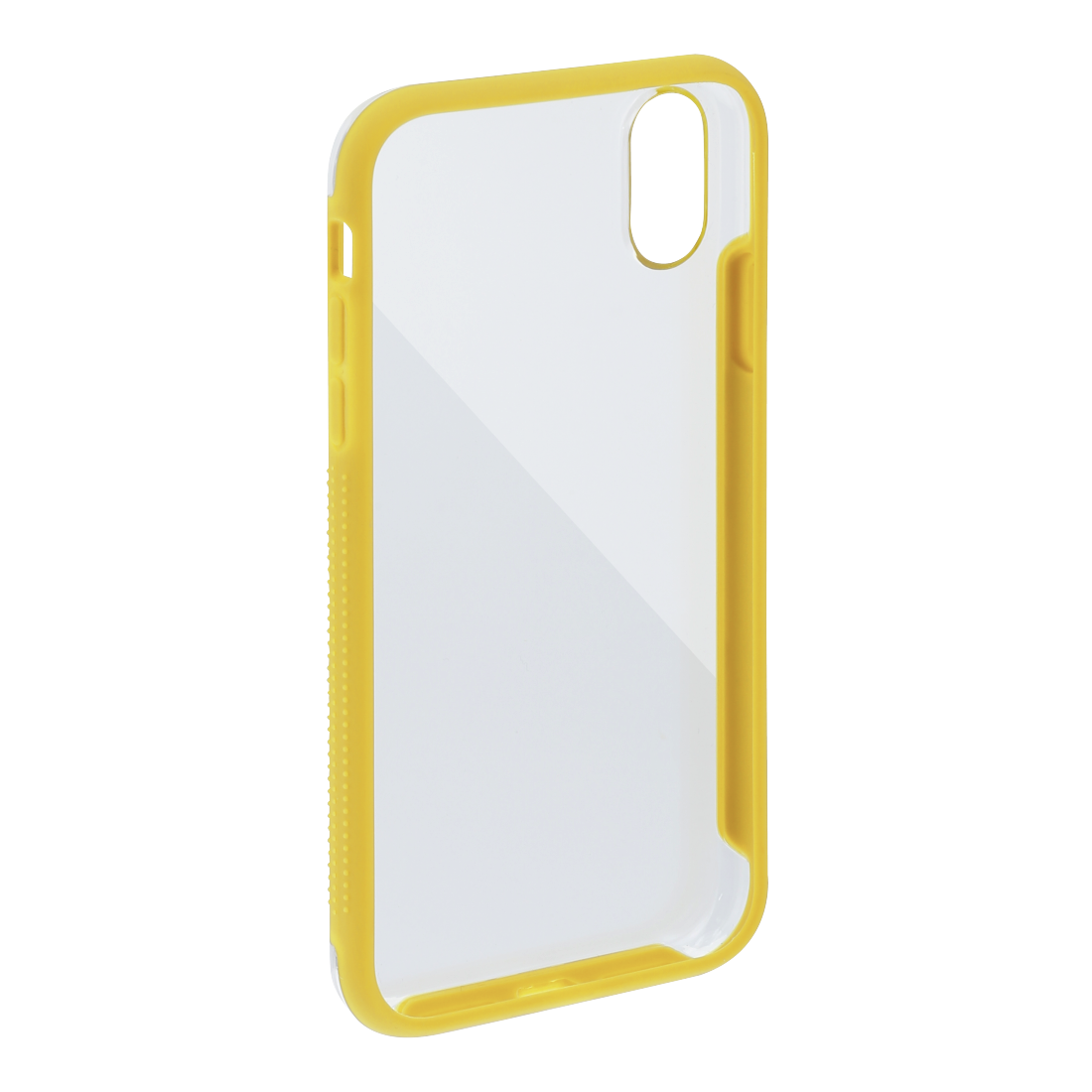 "abx2 High-Res Image 2 - Hama, Coque de protection ""Frame"" pour Apple iPhone XR, transparente/jaune"
