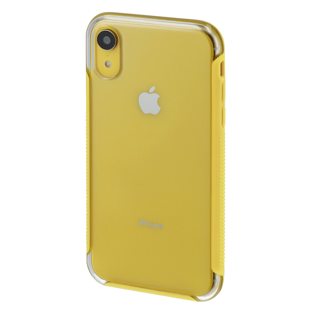 "abx3 High-Res Image 3 - Hama, Coque de protection ""Frame"" pour Apple iPhone XR, transparente/jaune"