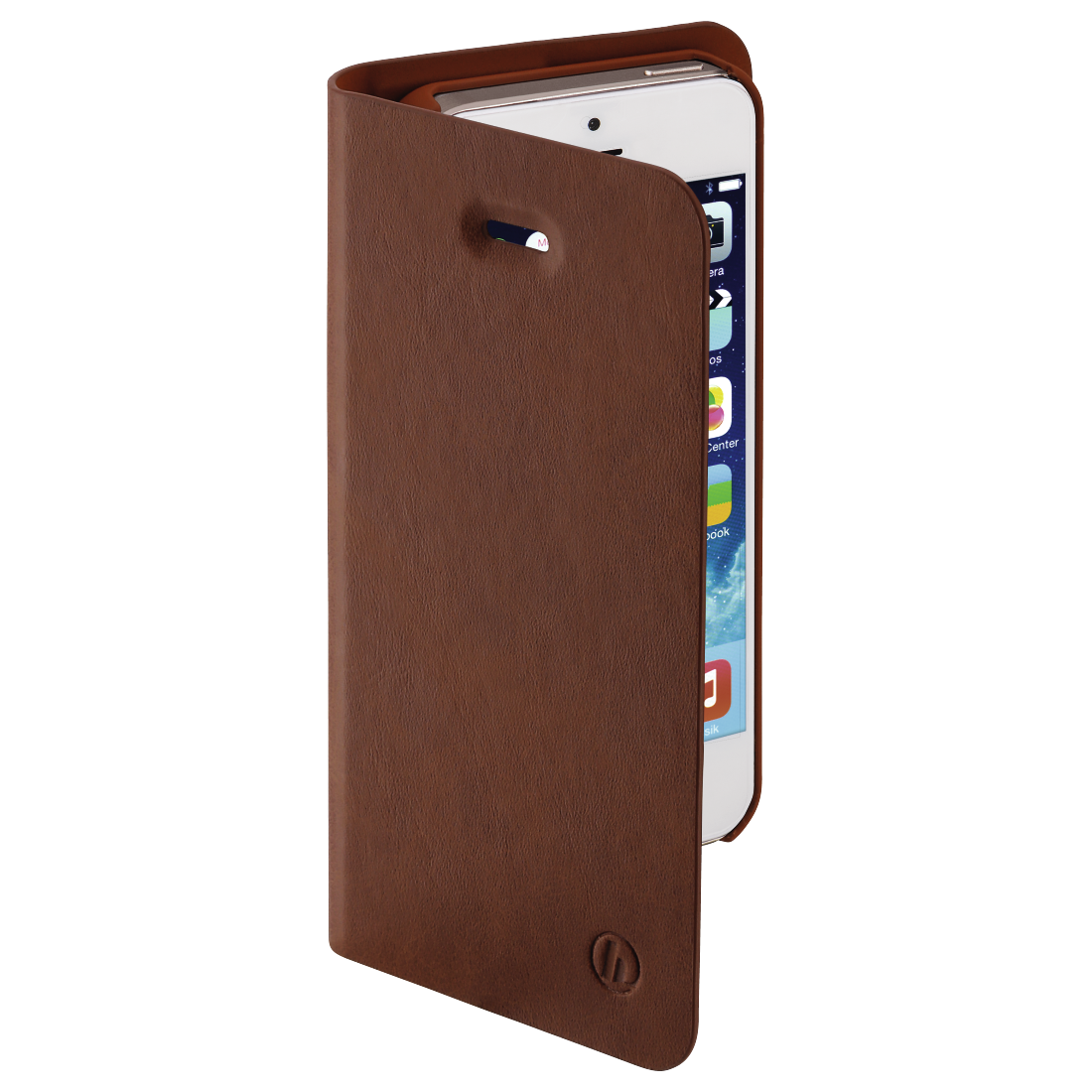 "abx2 High-Res Image 2 - Hama, Étui portefeuille ""Guard Pro"" pour Apple iPhone 5/5s/SE, marron"