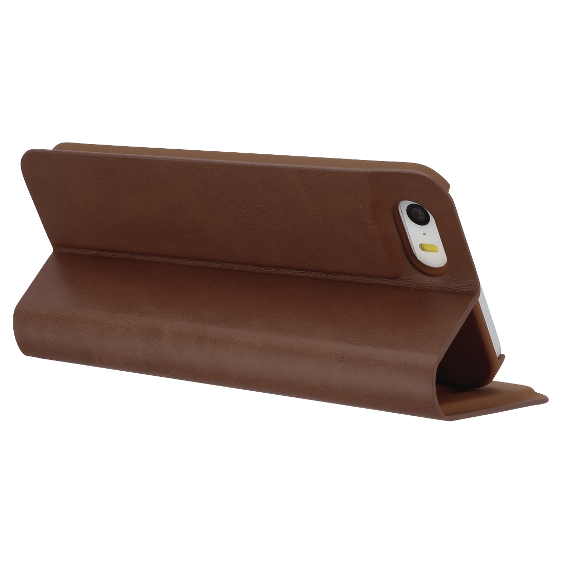 "abx3 High-Res Image 3 - Hama, Étui portefeuille ""Guard Pro"" pour Apple iPhone 5/5s/SE, marron"