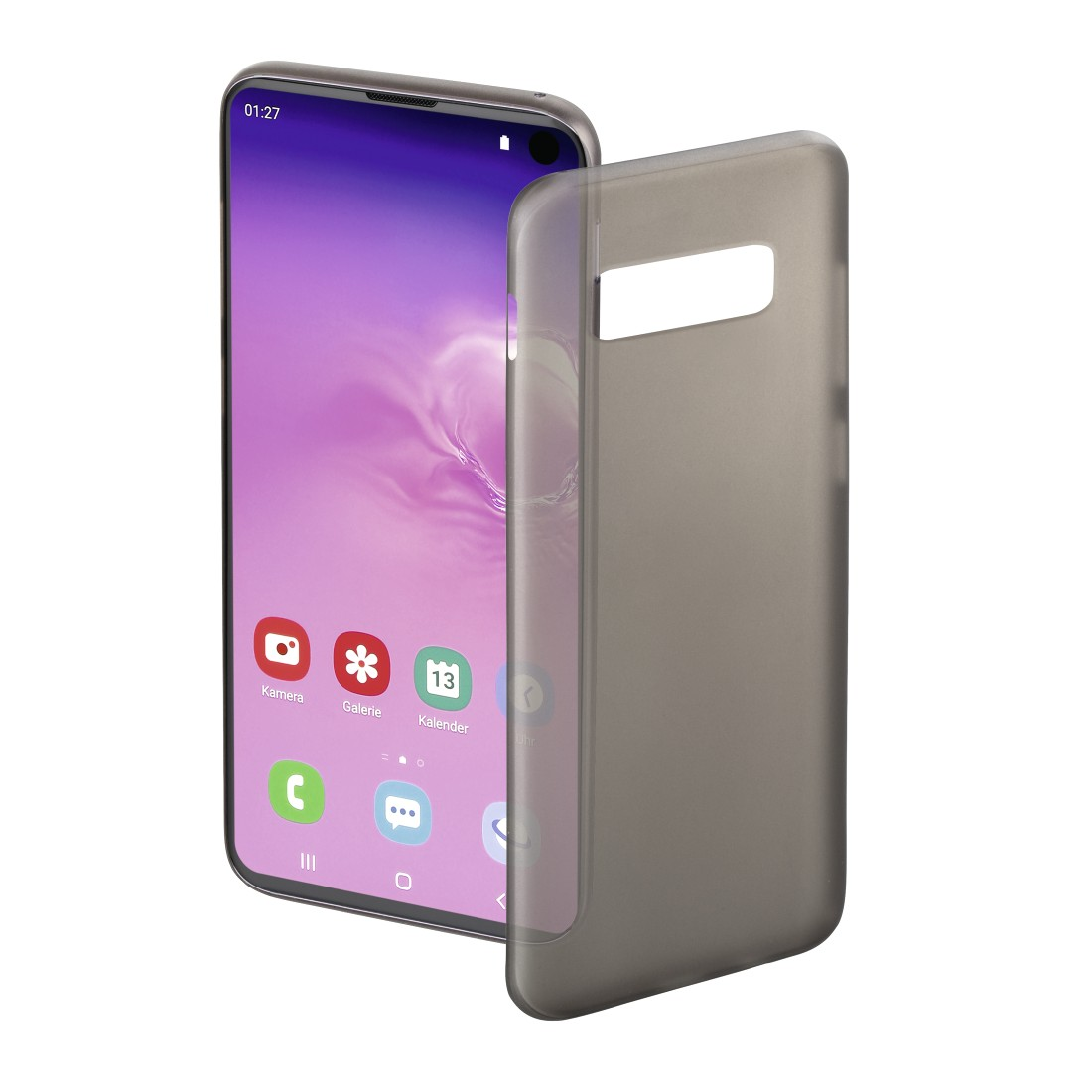 "abx High-Res Image - Hama, Coque de protection ""Ultra Slim"" pour Samsung Galaxy S10e, noire"
