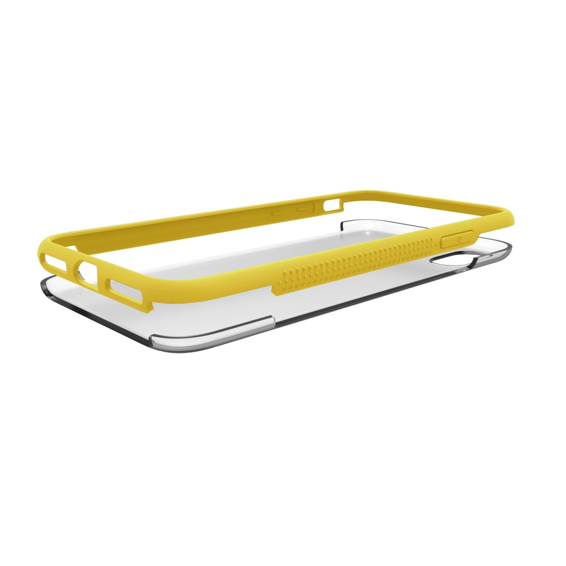 "dex High-Res Detail - Hama, Coque de protection ""Frame"" pour Apple iPhone XR, transparente/jaune"