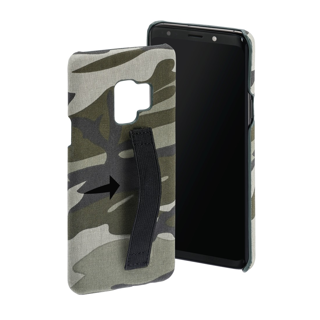 "abx High-Res Image - Hama, Coque de protection ""Camouflage Loop"" pour Samsung Galaxy S9, verte"