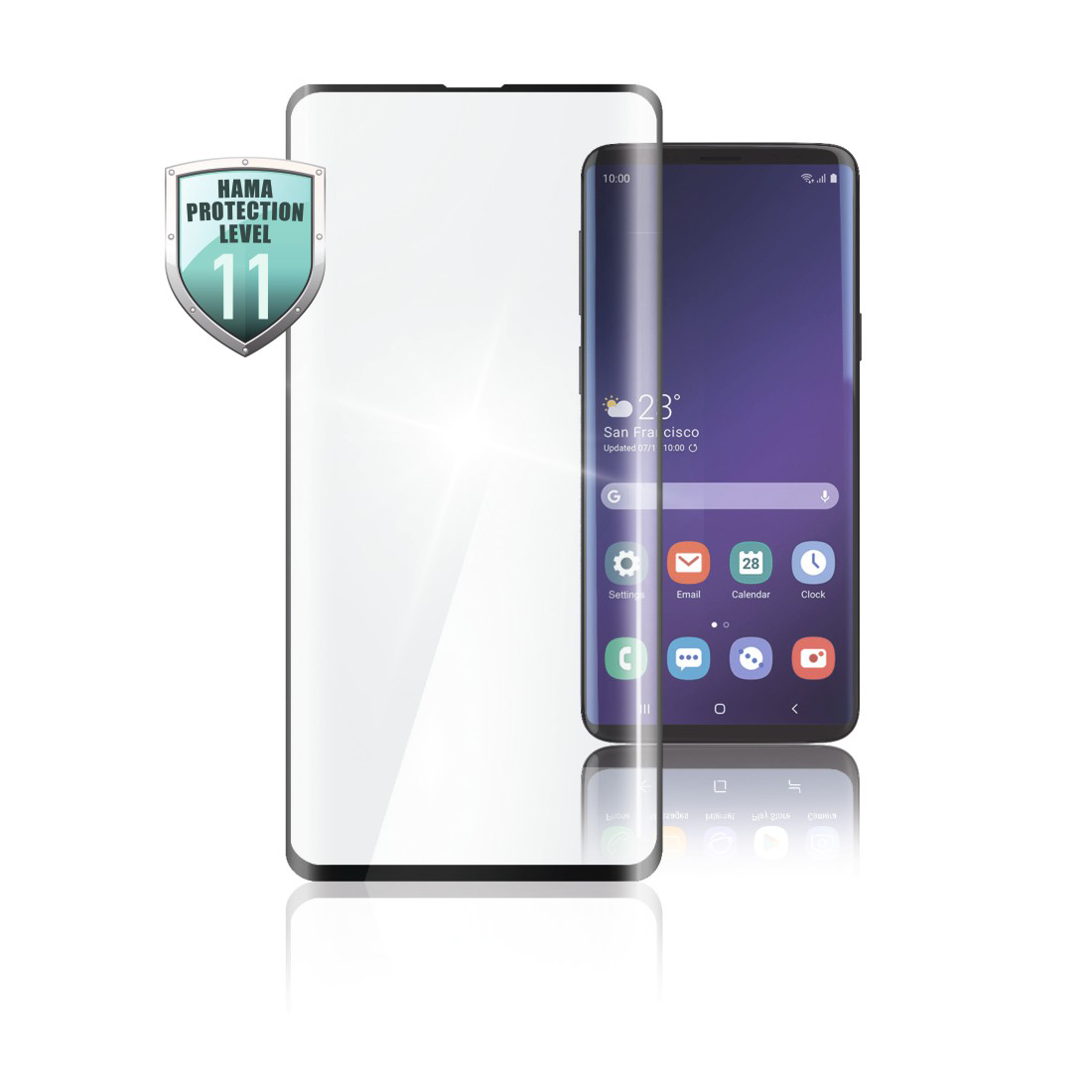 abx High-Res Image - Hama, Verre de protection Full-Screen 3D pour Samsung Galaxy S10e, noir