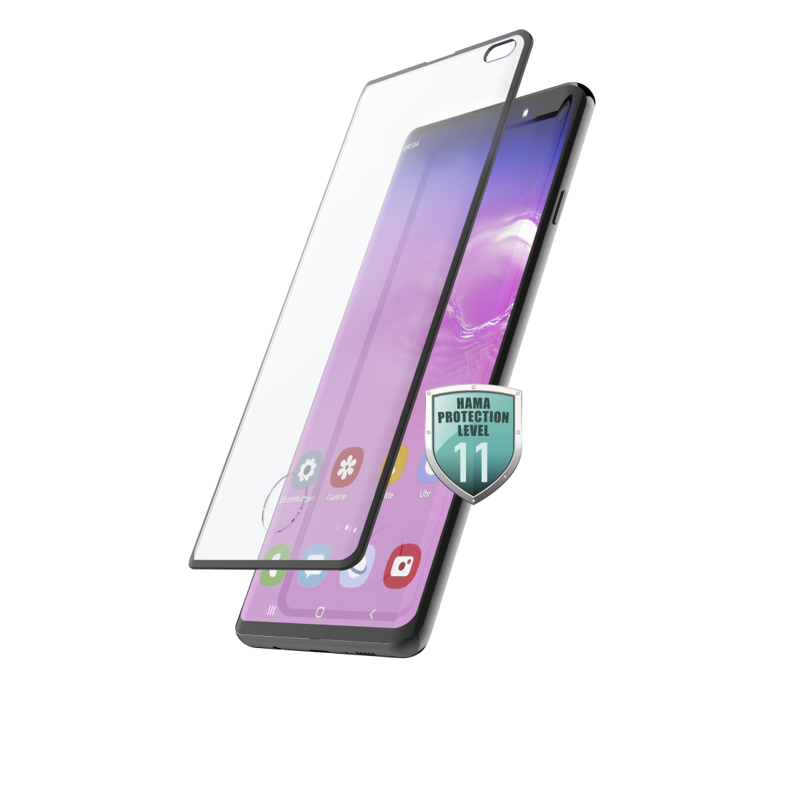 abx High-Res Image - Hama, Verre de protection Full-Screen 3D pour Samsung Galaxy S10+, noir