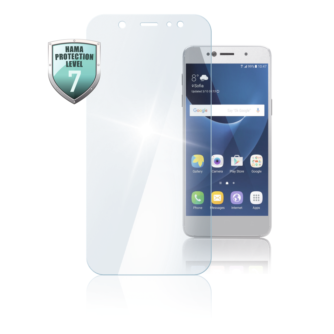 abx High-Res Image - Hama, Verre de protection pour Samsung Galaxy A30s/A50
