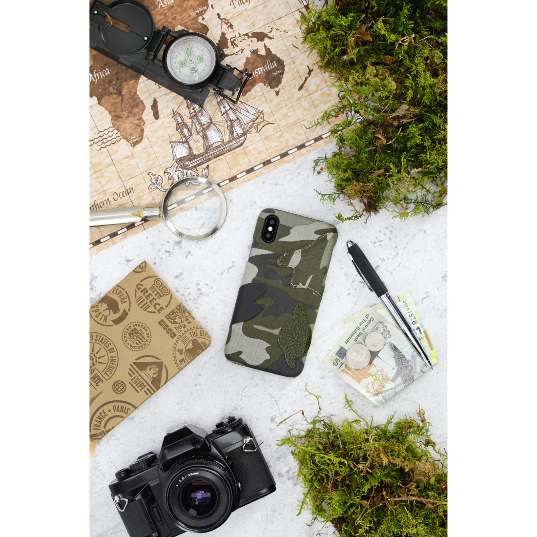 "awx High-Res Appliance - Hama, Coque de protection ""Camouflage"" pour Samsung Galaxy S10, verte"