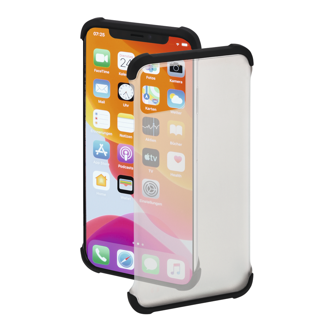 "abx High-Res Image - Hama, Coque de protection ""EdgeProtector"" pour Apple iPhone 11 Pro Max, noire"