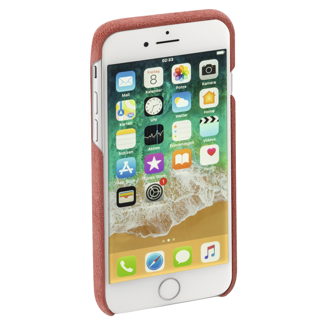 "abx4 High-Res Image4 - Hama, Coque protect. ""Finest Touch"" pr Apple iPhone 6/6s/7/8/SE 2020, corail"