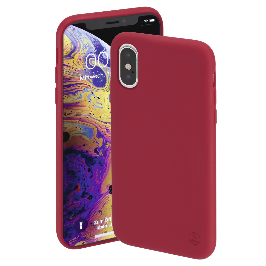 "abx High-Res Image - Hama, Coque de protection ""Finest Feel"" pour Apple iPhone X/Xs, rouge"