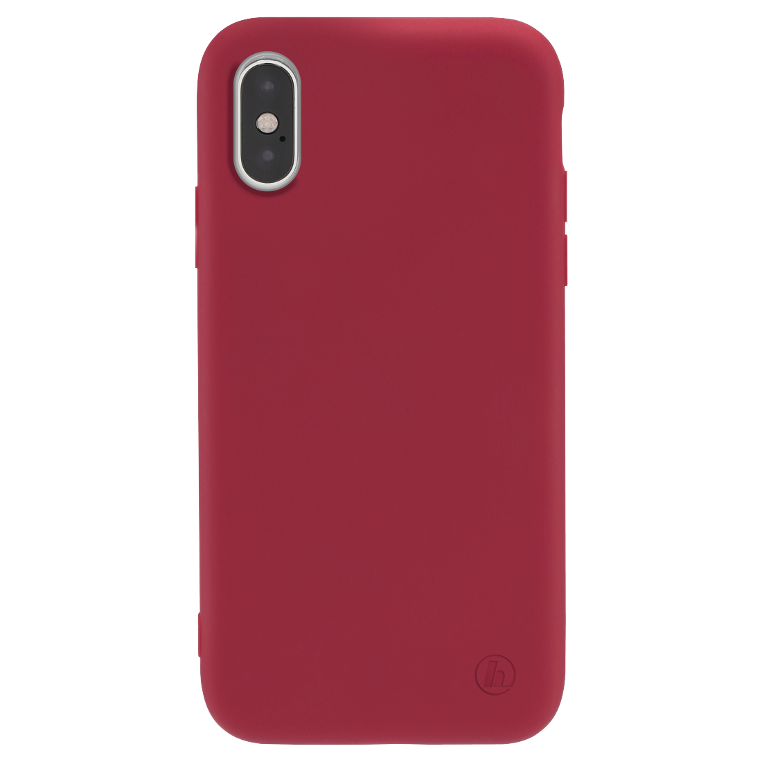 "abx2 High-Res Image 2 - Hama, Coque de protection ""Finest Feel"" pour Apple iPhone X/Xs, rouge"