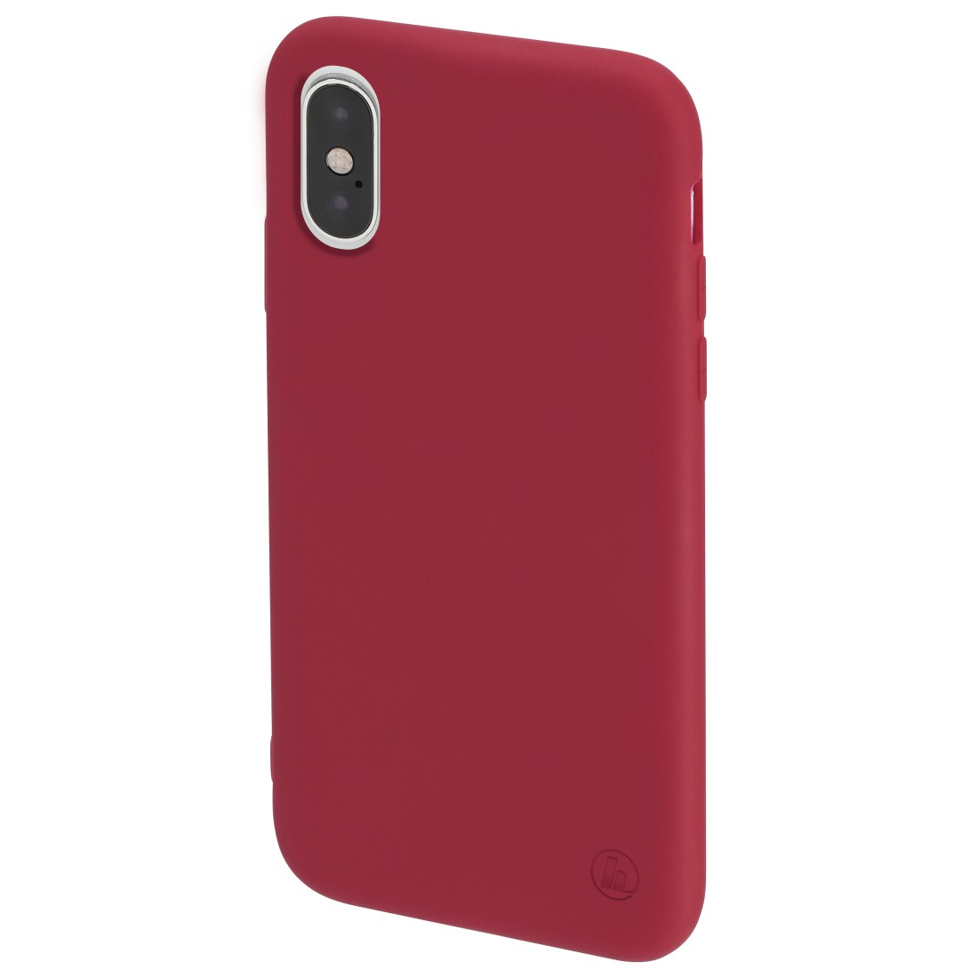"abx3 High-Res Image 3 - Hama, Coque de protection ""Finest Feel"" pour Apple iPhone X/Xs, rouge"